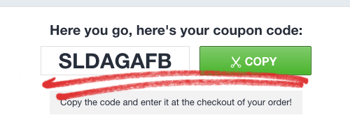 2. Klik på knappen for at få din rabatkode